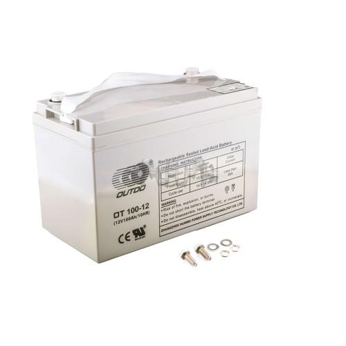 Аккумулятор (АКБ) 12V 100А AGM (330x172x223, серый) OUTDO арт.A-1379