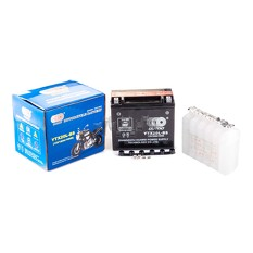 Аккумулятор (АКБ) 12V 18А заливной (175x87x155, черный, mod:UTX 20L-BS) (+электролит) OUTDO (mod.A)