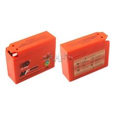 Аккумулятор (АКБ) 12V 2,3А гелевый, Suzuki (113x39x89, оранжевый, mod:YT4B-5) OUTDO арт.A-1153