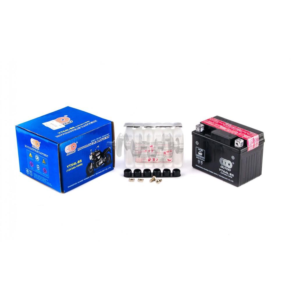 Аккумулятор (АКБ) 12V 3А заливной (114x71x88) (+электролит) OUTDO (AKY) арт.A-1489