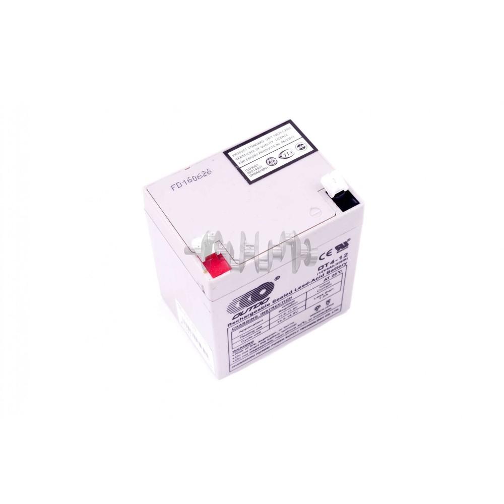 Акумулятор (АКБ) 12V 4А AGM (90x70x102, сірий) OUTDO арт.A-1373