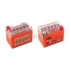 Аккумулятор (АКБ) 12V 4А гелевый (112x68x85, оранжевый, mod:YTX4L-BS) OUTDO арт.A-809