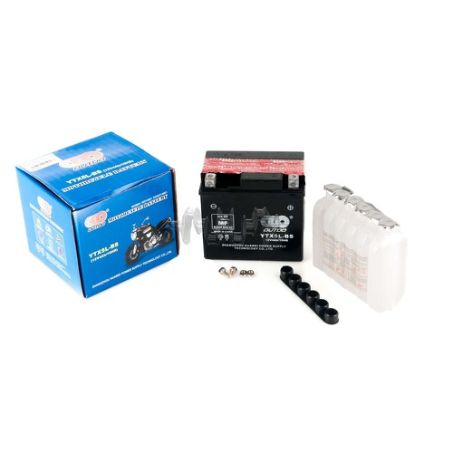 Аккумулятор (АКБ) 12V 4А заливной (119x60x128, черный, mod:UTX 5L-BS) (+электролит) OUTDO арт.A-1357