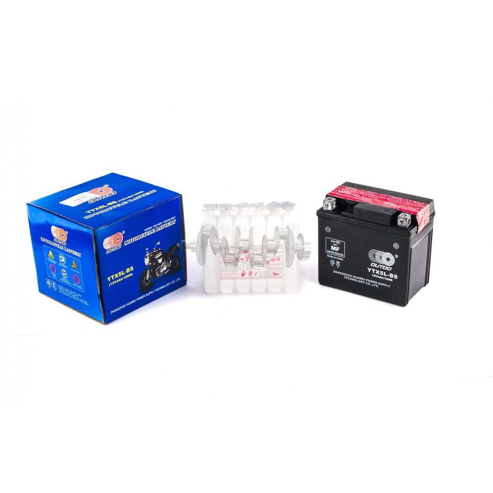 Акумулятор (АКБ) 12V 4А заливний (високий) (119x60x128) OUTDO (AKY) арт.A-1490