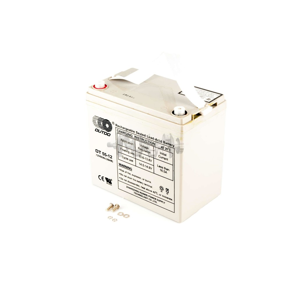 Акумулятор (АКБ) 12V 55А AGM (229x138x222, сірий) OUTDO арт.A-1378