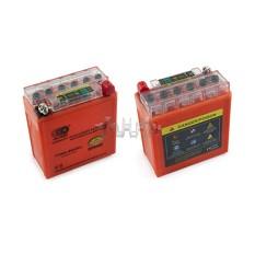 Аккумулятор (АКБ) 12V 5А гелевый (высокий) (119x60x128, оранжевый, с индикатором заряда) OUTDO арт.A