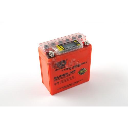 Акумулятор (АКБ) 12V 5А гелевий (високий) (119x60x128, помаранчевий, з індикатором заряду, вольтметром) OU арт.A-1162