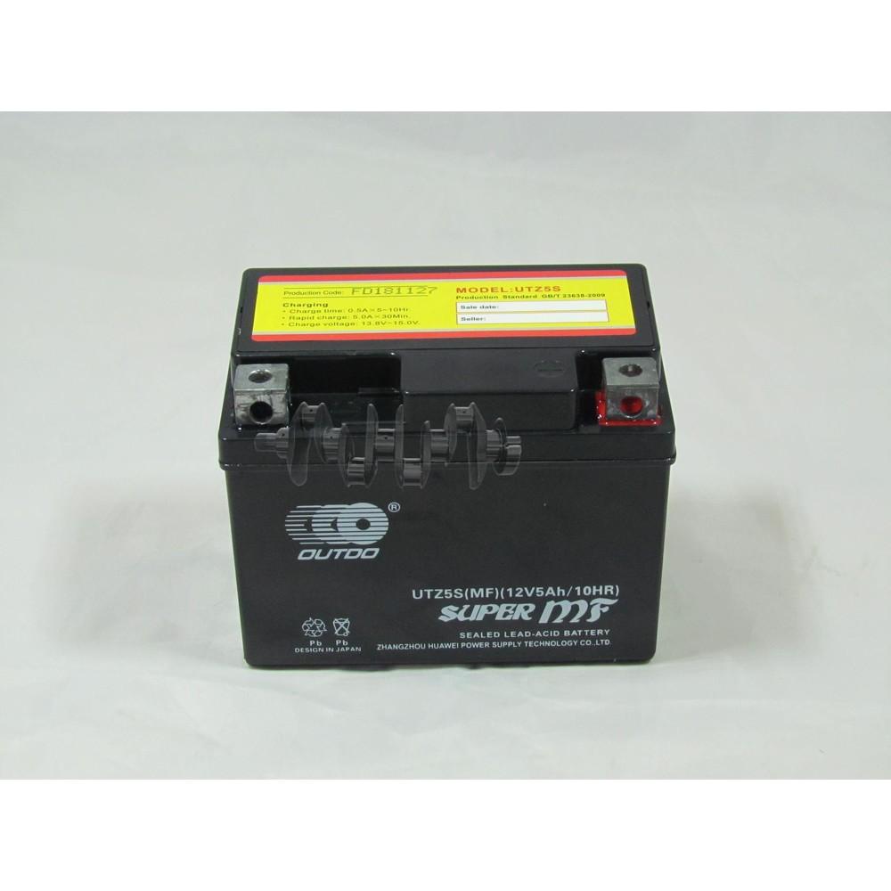 Аккумулятор (АКБ) 12V 5А гелевый (черный) MF (UTZ5S, 115x86x70) DELTA 110/125 (Japan Tech) ZV арт.A-