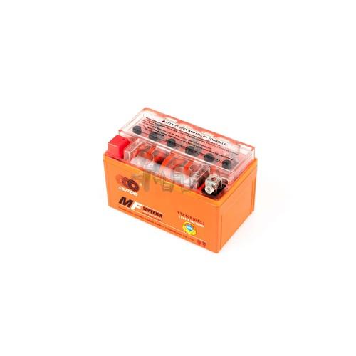 Акумулятор (АКБ) 12V 8,6А гелевий (150x85.8x93.6, помаранчевий, mod: YTZ 10S) OUTDO арт.A-1371