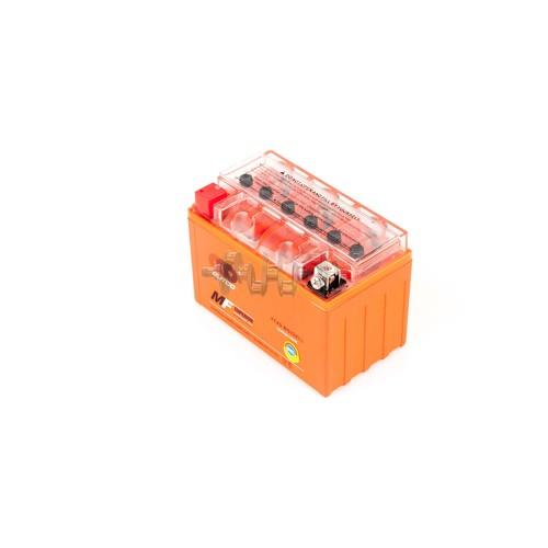 Акумулятор (АКБ) 12V 9А гелевий (152x88x106, помаранчевий, mod: YTX9-BS) OUTDO арт.A-1151