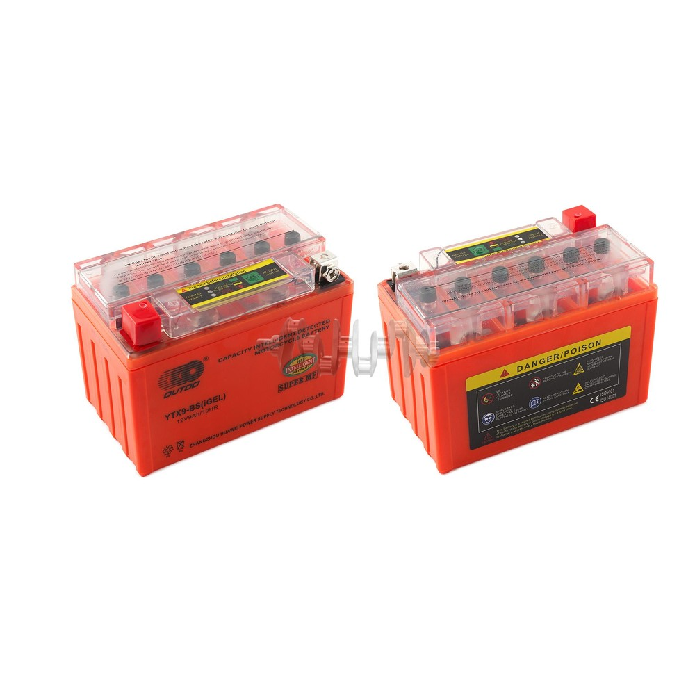 Аккумулятор (АКБ) 12V 9А гелевый (152x88x106, оранжевый, с индикатором заряда) OUTDO арт.A-1165