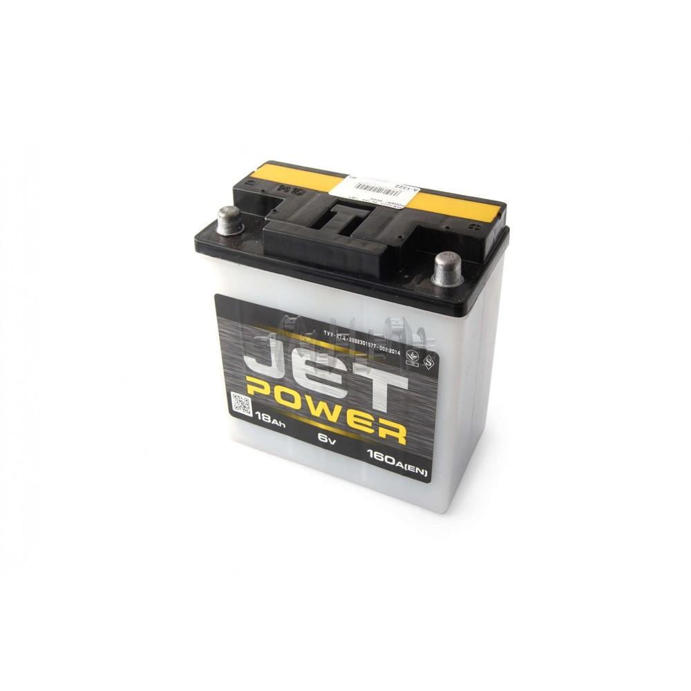 Аккумулятор (АКБ) 6V 18А заливной JET POWER (конус) (VOV) арт.A-1322