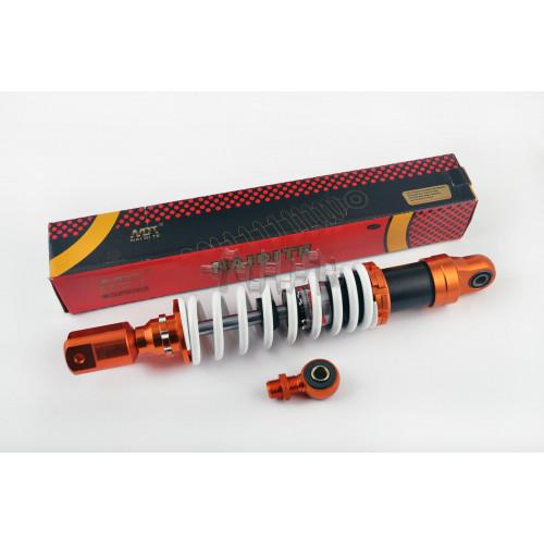 Амортизатор универсальный (+ переходник)   350mm, тюнинговый   (оранжево-белый)   NDT