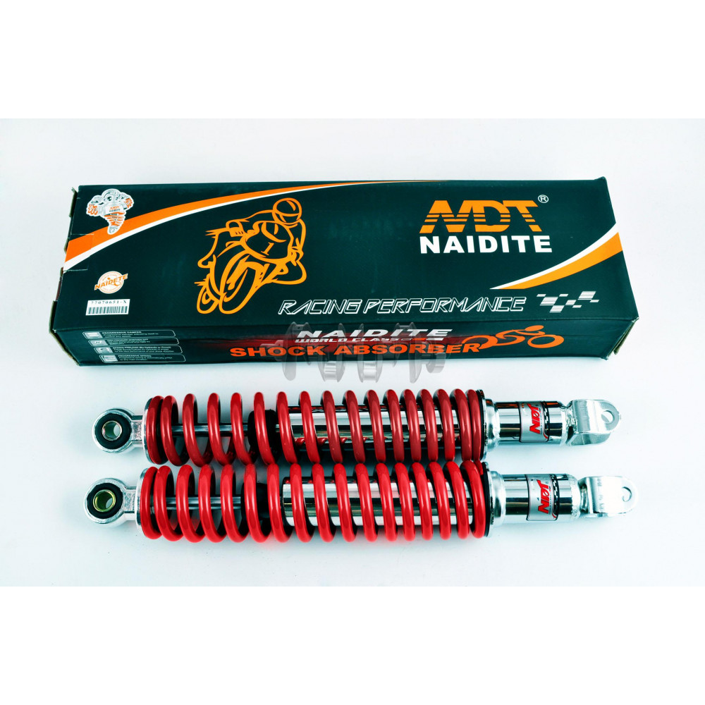 Амортизаторы (пара)   GY6, DIO ZX   330mm, стандартные   (красный металлик)   NDT