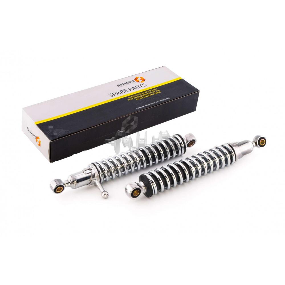 Амортизаторы (пара)   ИЖ   330mm, регулируемые, с рычагом   (хром)   NAMASTE