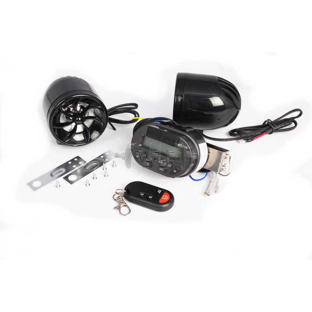 Аудиосистема   (3, 2*5Wчерные, сигнализация, МР3/FM/SD, ПДУ)   mod:MT729+AV253   NEO