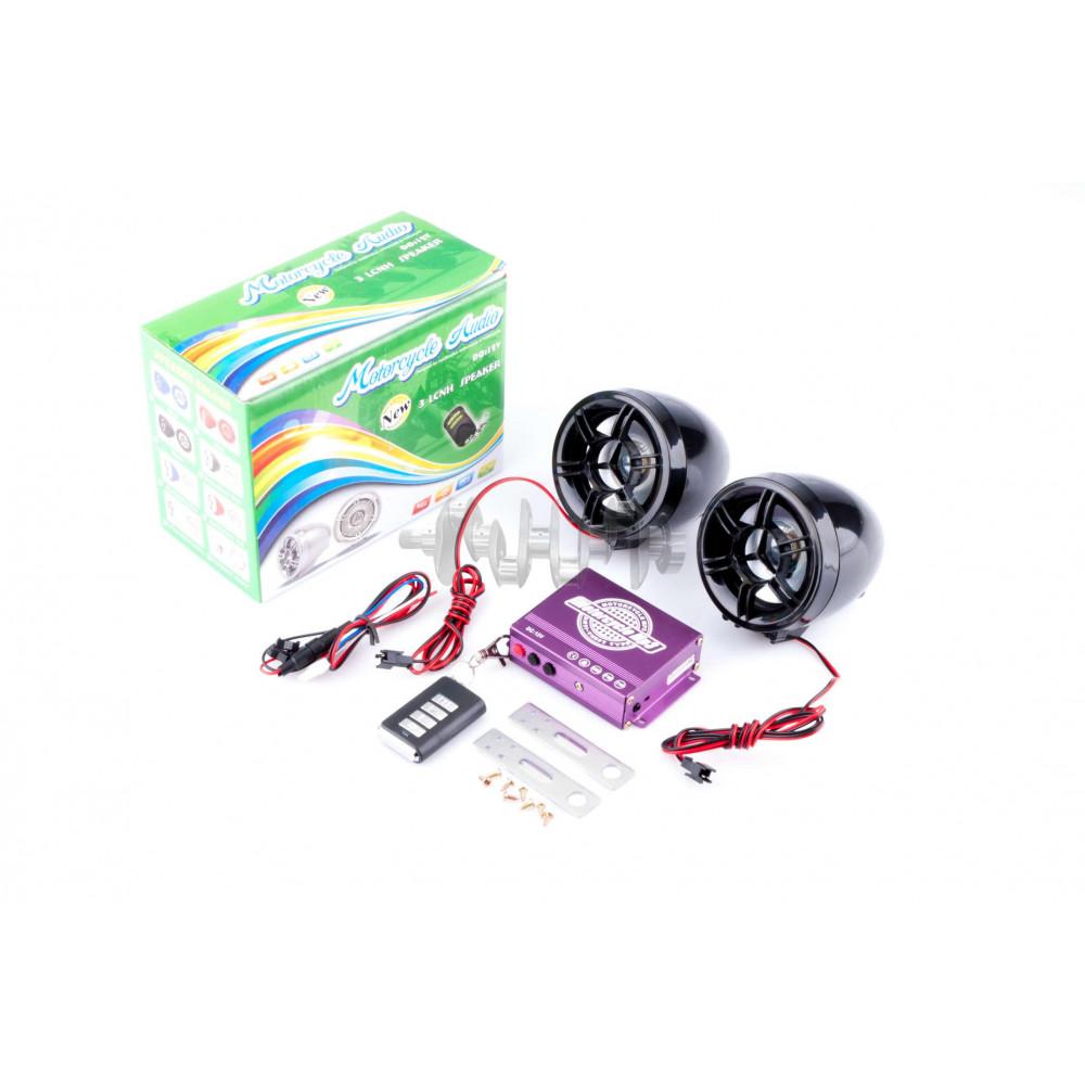 Аудиосистема   (3, черные, сигн., МР3/FM/MicroSD/USB, ПДУ, разъем ППДУ 3.5mm)   ZUNA