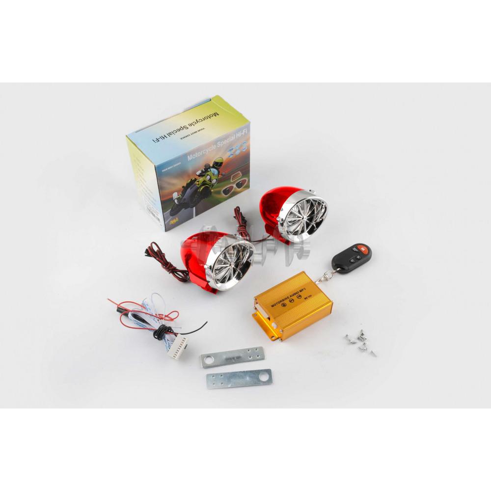 Аудиосистема   BEST CHOICE   (3.5, красная-хром, подсветка, сигн., МР3/FM/SD/USB, ПДУ, разъем ППДУ 3