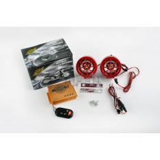 Аудиосистема 2.0   mod:908   (2.5, красные, сигнализация, МР3/FM/SD/USB, ПДУ, разъем ППДУ 3K)