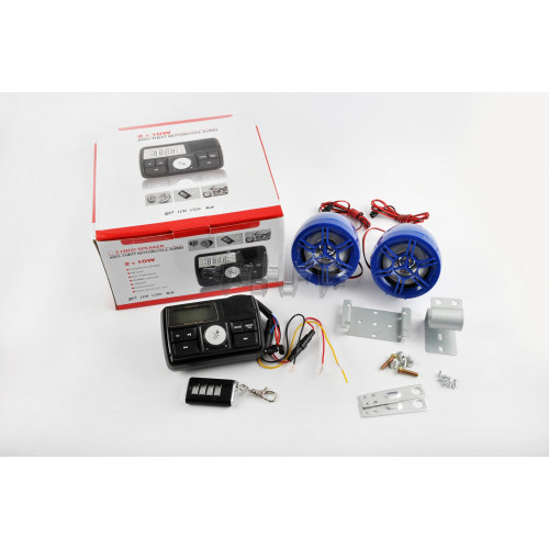 Аудиосистема 2.0   mod:978   (3, синие, сигнализация, МР3/FM/USB/SD, ПДУ, ЖК дисплей)