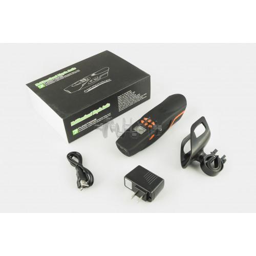 Аудиосистема велосипедная на руль   (влагостойкая, фонарик, рация, МР3/USB/SD/Bluetooth/FM-радио)