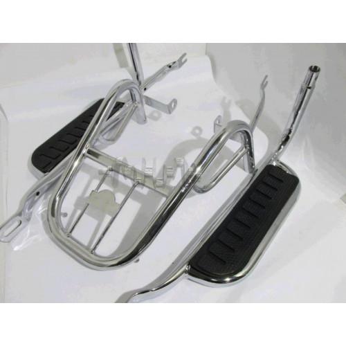 Багажник задний металлический   Delta, Alpha   (с подножками)