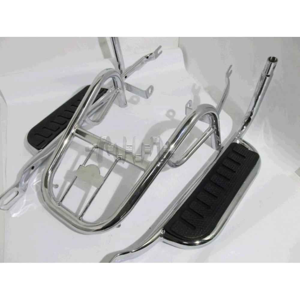 Багажник задний металлический   Delta, Alpha   (с подножками)   ST