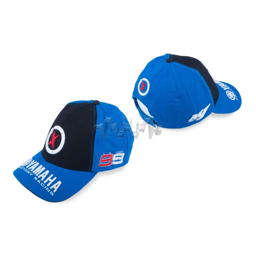 Бейсболка   YMH AND 99X JORGE LORENZO   (черно-синяя)