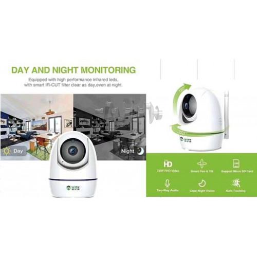 Беспроводная поворотная Wi-Fi камера   (IP SMART, FHD 720P, 360, управление с телефона, питание USB