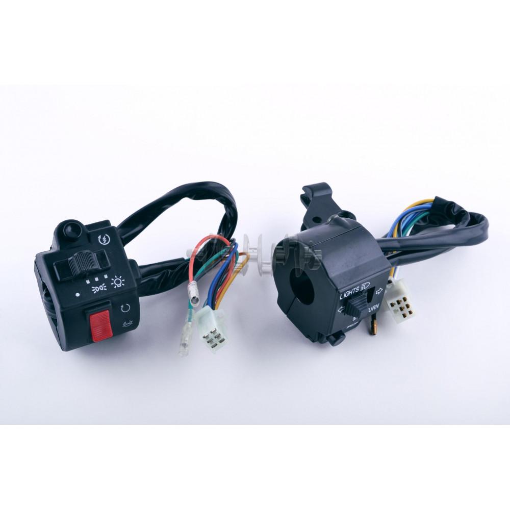 Блоки кнопок руля (пара)    CB/CG 125-150 (черные)   EVO