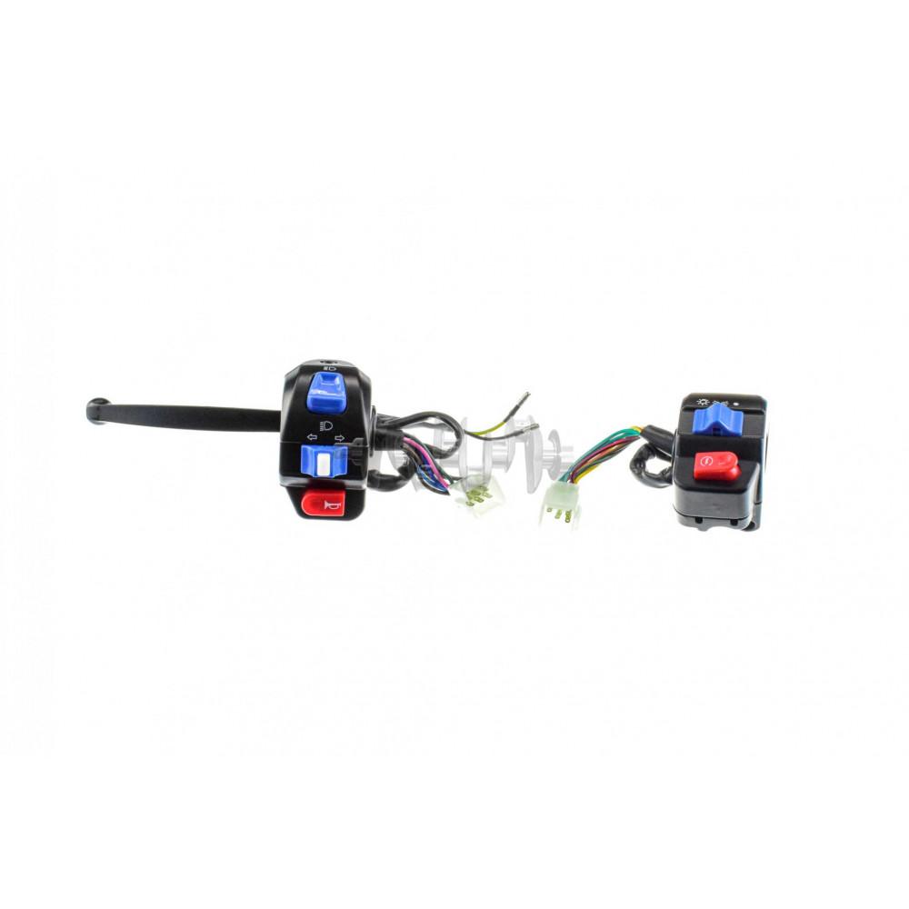 Блоки кнопок руля (пара)   4T GY6 50   (диск/барабан, крепление, рычаг)   KOMATCU   (mod.A)