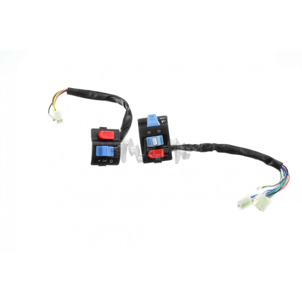 Блоки кнопок руля (пара)   Navigator QT50-B   (черные)   KOMATCU   (mod.A)