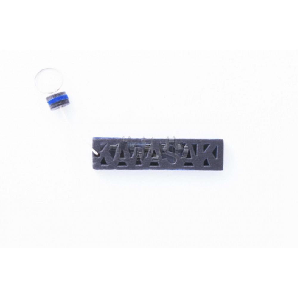 Брелок каучук   (серо-синий)   KAWASAKI   AS