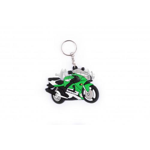 Брелок резиновый   байк   KAWASAKI   (зеленый)   (#YSK020)