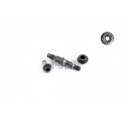 Вал редуктора мотокосы   (+шестерни 7Т)