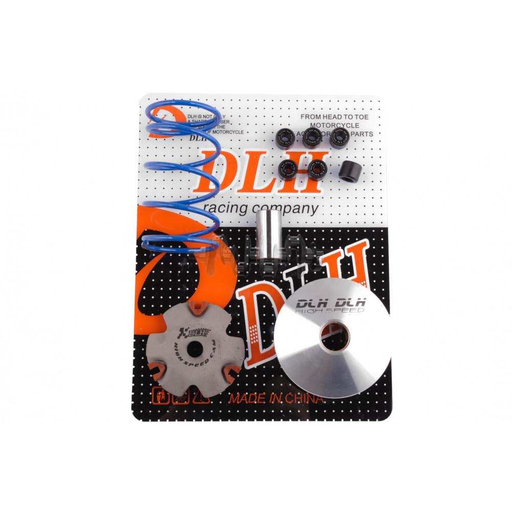 Вариатор передний (тюнинг)   Honda DIO AF18   (+палец, ролики 6шт, пружина торкдрайвера)   DLH