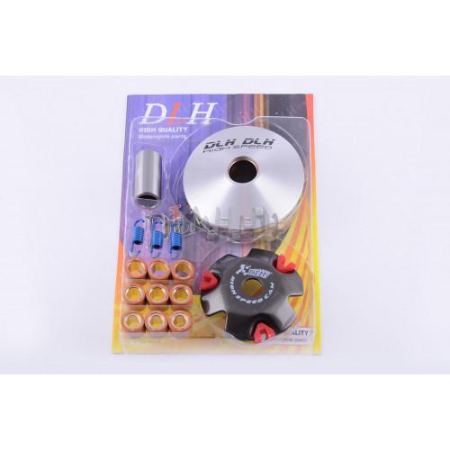 Вариатор передний (тюнинг)   Honda DIO AF27   (ролики латунь 9шт, палец, пр. сцепления)   DLH