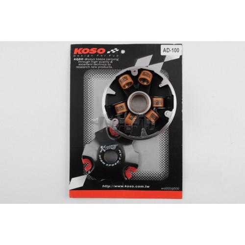 Вариатор передний (тюнинг)   Suzuki AD100   (медно-граф. втулка, ролики латунь)   KOSO