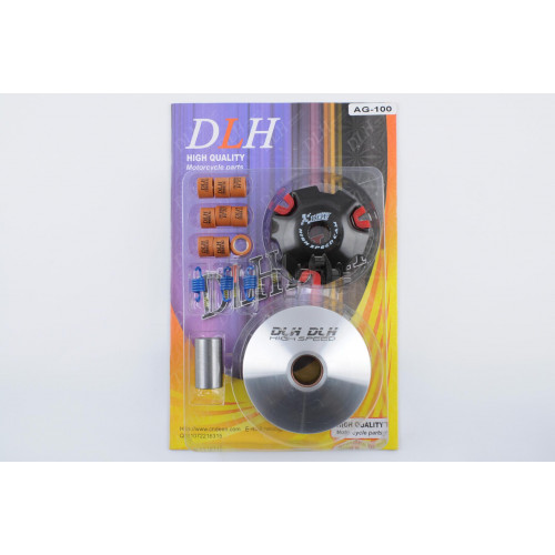 Вариатор передний (тюнинг)   Suzuki AD100   (ролики латунь 9шт, палец, пружины сцепления)   DLH