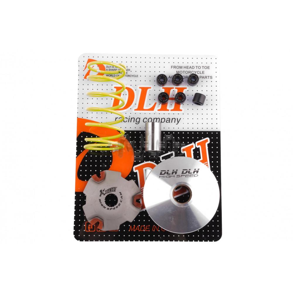 Вариатор передний (тюнинг)   Suzuki AD50   (+палец, ролики 6шт, пружина торкдрайвера)   DLH