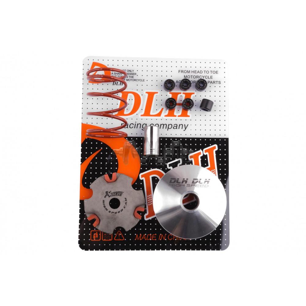 Вариатор передний (тюнинг)   Suzuki LETS   (+палец, ролики 6шт, пружина торкдрайвера)   DLH