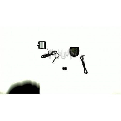 Велокомпьютер проводной без подсветки   (mod:0128)   (черный)   DS