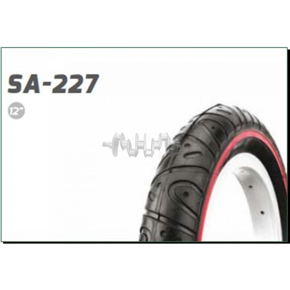 Велосипедная шина   12 * 1/2 * 2 1/4   (51-203)   (SA-227 полоска)   Delitire-Индонезия   (#LTK)