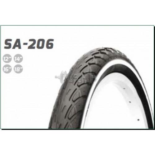 Велосипедная шина   12 * 1/2 * 2 1/4   (62-203)   (SA-206 слик)   Delitire-Индонезия   (#LTK)