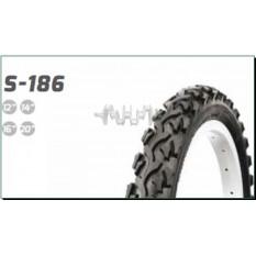 Велосипедная шина   14 * 1,75   (47-254)   (S-186 косичка синяя полоса)   Delitire-Индонезия   (#LTK