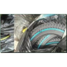 Велосипедная шина   14 * 2,125   (57-254)   (чёрная с синей/жёлт полосой)   Cascen-Китай   (#LTK)