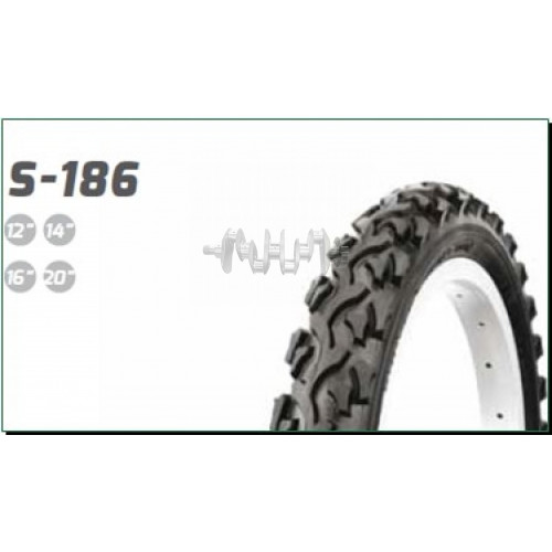 Велосипедная шина   16 * 1,75   (S-186)   Delitire-Индонезия   (#LTK)