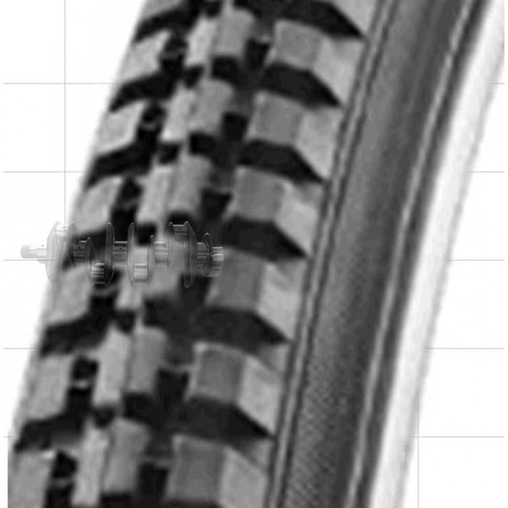 Велосипедная шина   24 * 1 3/8   (37-540)   (540 S-187/S-604 черная)   Delitire-Индонезия   (#LTK)