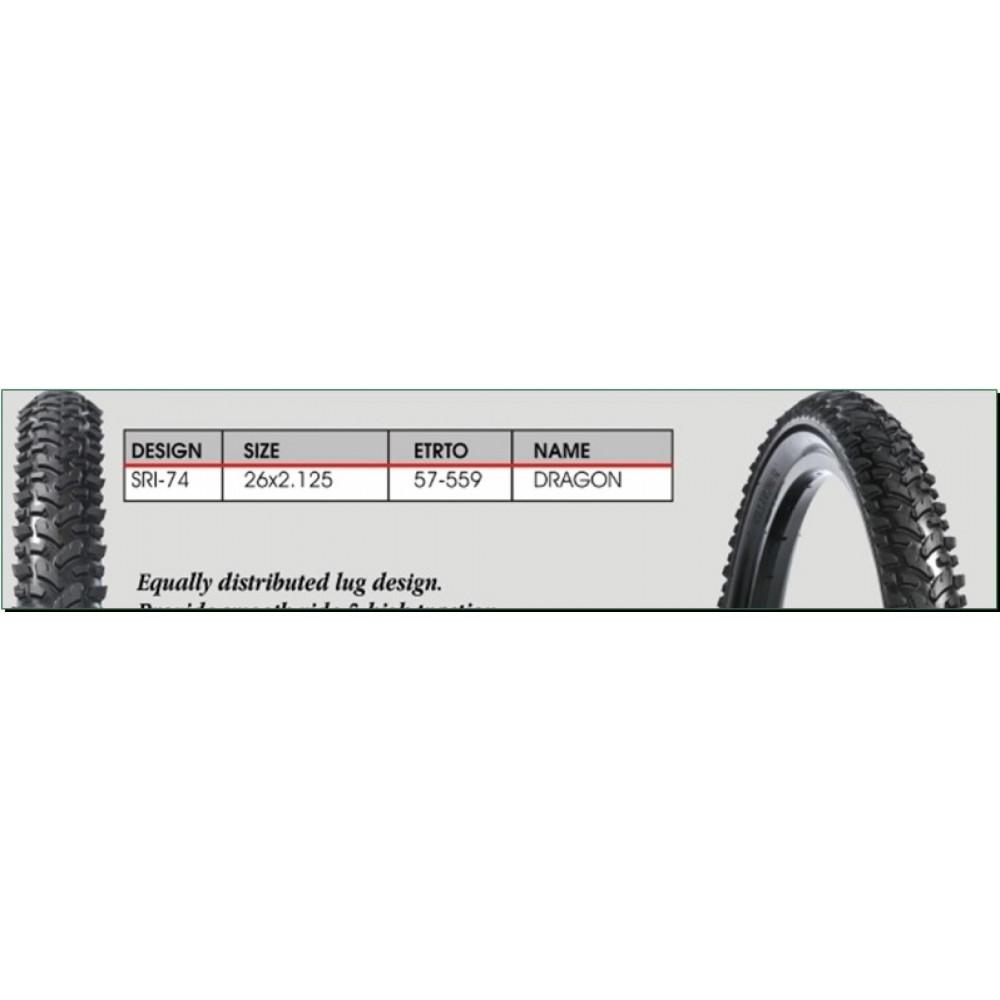 Велосипедная шина   26 * 2,125   (SRI-74 чёр/Blue strip)   DSI-Шри Ланка   (#LTK)