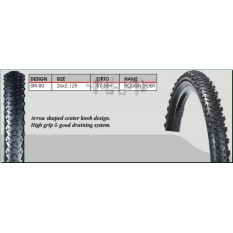 Велосипедная шина   26 * 2,125   (SRI-80 чёр/Blue strip)   DSI-Шри Ланка   (#LTK)